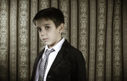 Boy in vintage suit Stock Photo
