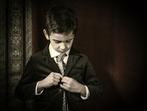 Boy in vintage suit Royalty Free Stock Photo