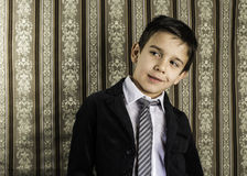 Boy in vintage suit Royalty Free Stock Images