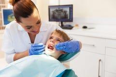 Boy visits the dentist Royalty Free Stock Photos