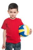 Boy with a volleyball ball Stock Photo