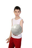 Boy volleyball player Royalty Free Stock Images