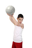 Boy volleyball player Stock Photography