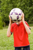 Boy with volleyball XX Royalty Free Stock Photography