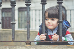 Boy waiting Stock Image