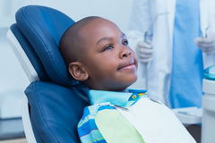 Boy waiting for a dental exam Royalty Free Stock Images