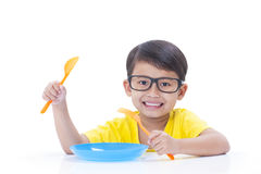 boy waiting for food Stock Photography