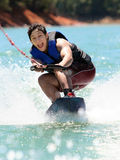 Boy Wake boarding Royalty Free Stock Photo