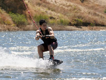 Boy Wakeboarding Stock Image