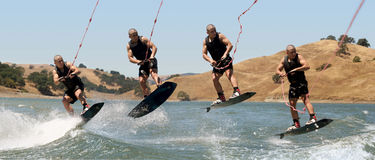 Boy Wakeboarding Royalty Free Stock Image
