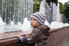 Boy on a walk Stock Photography