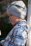 Boy on a walk Royalty Free Stock Image