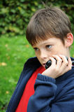 Boy with walkie talkie Royalty Free Stock Image