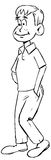Boy Walking. A cartoon boy walking with his hand in his pocket Royalty Free Stock Photo
