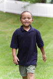 Boy walking Stock Photo