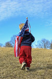 child with American Flag Royalty Free Stock Image