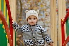 Boy walking on playground Royalty Free Stock Photography