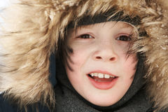 Boy in a warm hat Stock Image