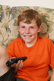 Boy watching television Royalty Free Stock Photo