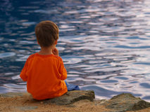 Boy at the Water Royalty Free Stock Photos
