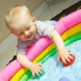 Boy at water Royalty Free Stock Image