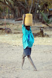 Boy with water Stock Images