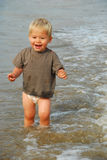 Boy in the water Royalty Free Stock Photography