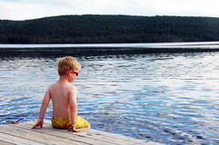 Boy at the water Royalty Free Stock Photo
