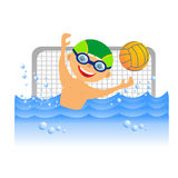 Boy water polo player Royalty Free Stock Photos