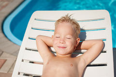 Boy watered Stock Images