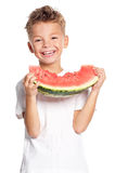 Boy with watermelon Stock Image