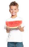 Boy with watermelon Stock Photography