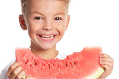 Boy with watermelon Royalty Free Stock Photos