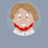 Boy with watermelon icon Royalty Free Stock Photography