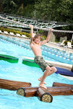 Boy at a waterpark Stock Photography