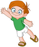 Boy waving Royalty Free Stock Image