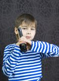Boy with a weapon Royalty Free Stock Photo