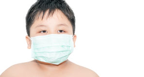 Boy wear a mask Health isolated Royalty Free Stock Images