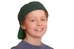 Boy wearing baseball cap Royalty Free Stock Image
