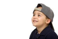 Boy wearing cap Stock Photography