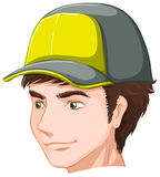 A boy wearing a cap Royalty Free Stock Images