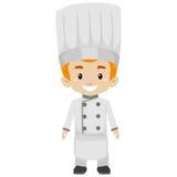 Boy wearing a Chef Uniform Stock Photography