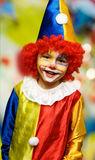 The boy wearing  clown Royalty Free Stock Images