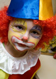 The boy wearing clown Royalty Free Stock Photography