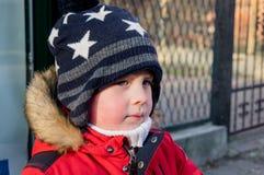 Boy wearing  hat Royalty Free Stock Image