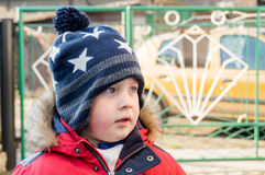 Boy wearing  hat Stock Photography