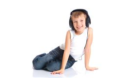 Boy wearing headphones Royalty Free Stock Image