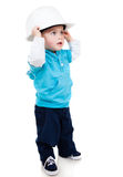 Boy wearing a helmet Royalty Free Stock Image