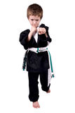 Boy Wearing Karate Outfit Stock Photo
