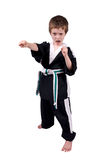 Boy Wearing Karate Outfit Stock Image